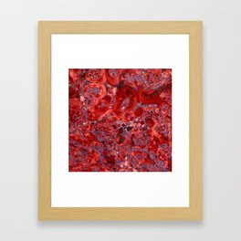 Marble Ruby Blood Red Agate Framed Art Print