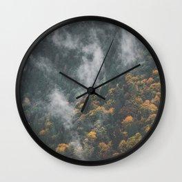 Fall on the Coquihalla II Wall Clock