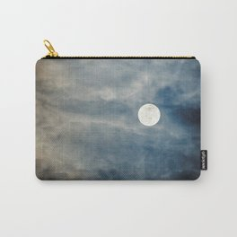 Full Moon with clouds at Night, Dramatic clouds in the moonlight Carry-All Pouch