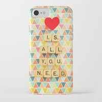 all you need is love iPhone & iPod Cases featuring Love is All You Need by happeemonkee