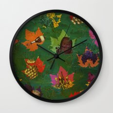 Autumn Grapes and Wine Wall Clock