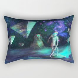 The Aliens Attack The Egyptian Pyramids  Rectangular Pillow