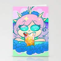pastel goth Stationery Cards featuring follo 4 more ~*pastel goth*~ by Ceebs