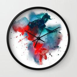 Smoky Double Exposure Wall Clock