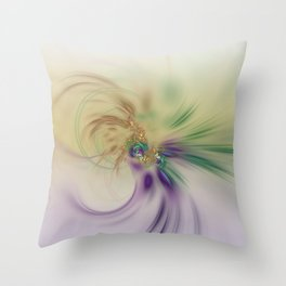 Fall Festive Fractal Throw Pillow