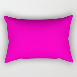 The Future Is Bright Pink - Solid Color - Hot Pink Rectangular Pillow