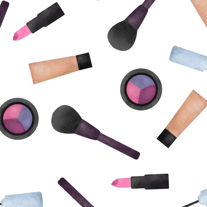 Scattered Makeup Pattern Leggings
