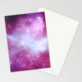 Pink Purple Nebula Close Stationery Cards