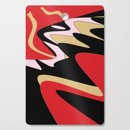 Snake Hill - Red and Black Cutting Board