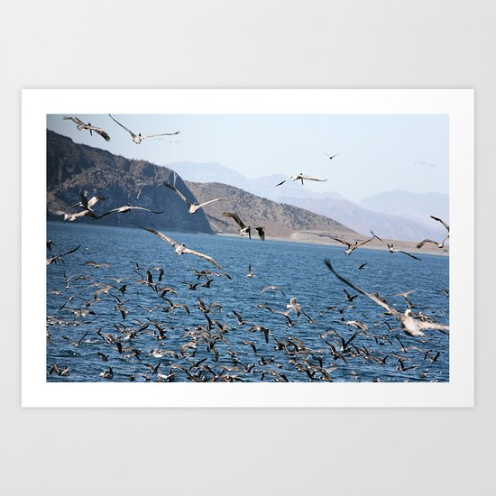 in flight for the fight Art Print