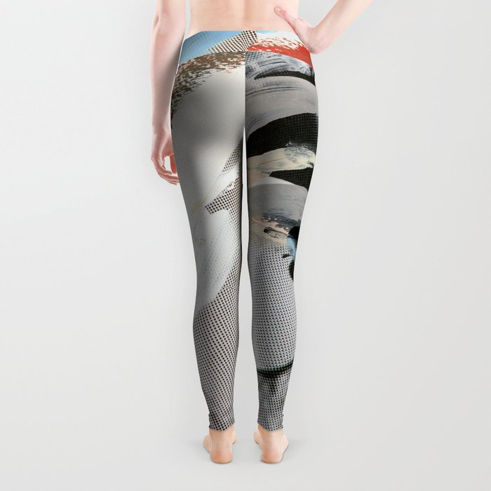 Untitled (Painted Composition 4) Leggings
