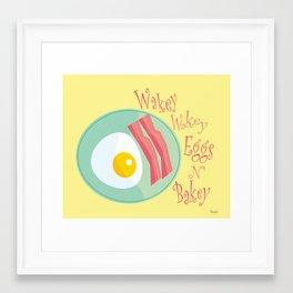 Wakey Wakey Framed Art Print
