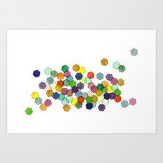 Hexagons Art Print