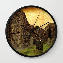 🔵 Ancient Irish Graveyard Ruins Wall Clock