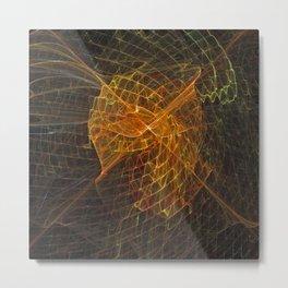 Gold Netting Metal Print