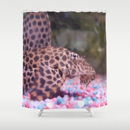 Photo Pleco Leopard Shower Curtain