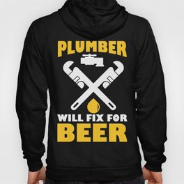 Funny Costume For Plumber. Beer Shirt Hoody