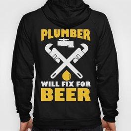 Funny Costume For Plumber. Beer Shirt Hoody