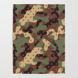 CAMO & HOT PINK BOMB DIGGITYS ALL OVER LARGE Poster
