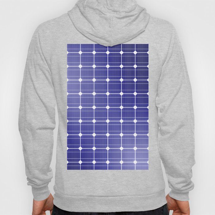 In charge / 3D render of solar panel texture Hoody