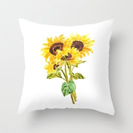 sunflower bouquet 2020 Throw Pillow