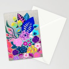 Linen Bouquet Stationery Cards