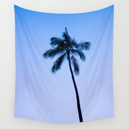 palm tree ver.blue Wall Tapestry