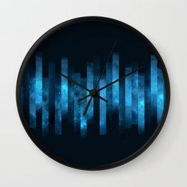 Deep Blue Watercolor Space Wall Clock