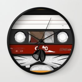 The cassette tape cat Wall Clock