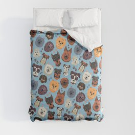 Cute Dog & Pet Owner pattern gift Comforters