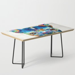 Colorful French Bulldog Dog Art By Sharon Cummings Coffee Table