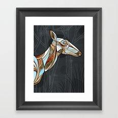 ELK (drk background) Framed Art Print