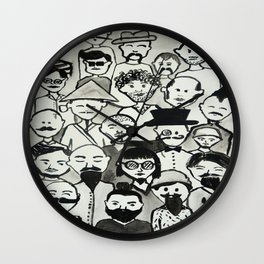 the bearded mens club part 1  Wall Clock
