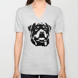 Rottweiler Dog Unisex V-Neck
