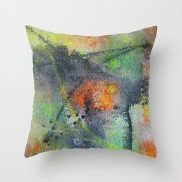 Ground-In Graffiti Throw Pillow