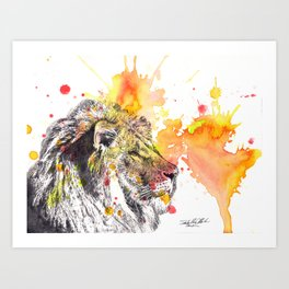 Lion Portrait Painting Art Print