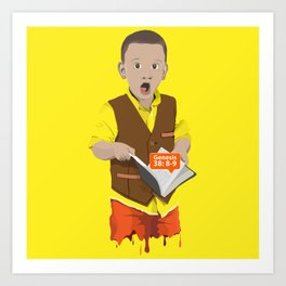 Thought Provoking Kid Art Print