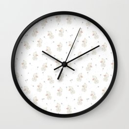 Bunnies with Dandelions Wall Clock