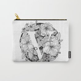 Flower V Carry-All Pouch