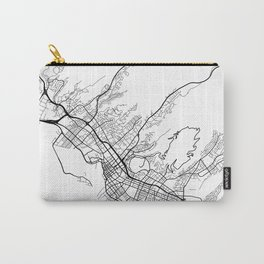 Honolulu Map, USA - Black and White Carry-All Pouch