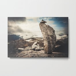 STONE PILAR Metal Print