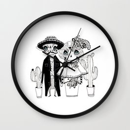 Day of dead Wall Clock