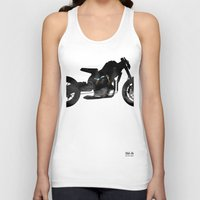 cafe racer Tank Tops featuring cafe racer bike  by Daniele Faro