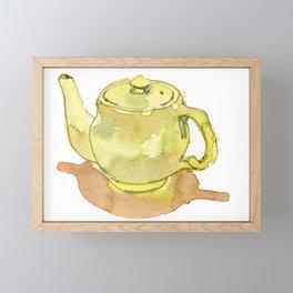 Yellow Teapot Framed Mini Art Print