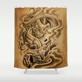 Hannya Dragon Shower Curtain