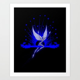Electric Blue Angel Art Print