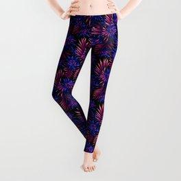 Aechmea Fasciata - Dark Blue / Purple Leggings