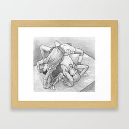 Bad Cat is an Amazing Dancer but Also a Total Ham Who Will Ruin the Dynamic of Your Crew Framed Art Print