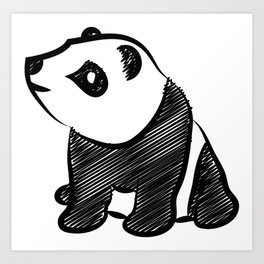 Gothic Panda  Art Print
