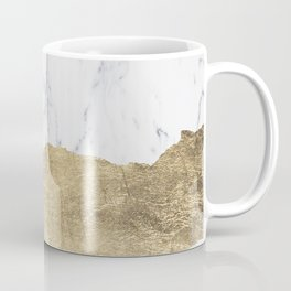Elegant faux gold foil gray white modern marble Coffee Mug